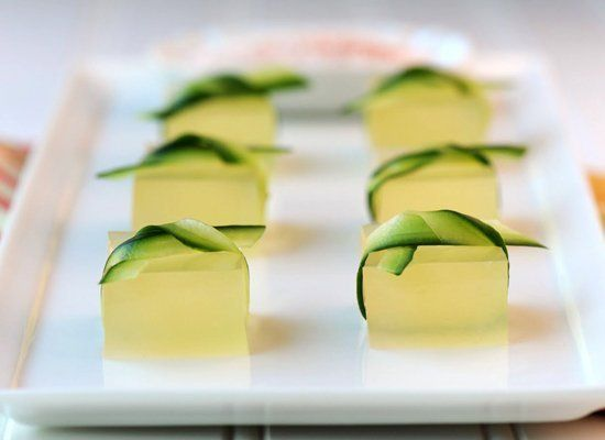 """<strong>Get the <a href=""""http://jelly-shot-test-kitchen.blogspot.com/2010/09/end-of-summer-jelly-shots-cucumber-lime.html"""" ta"""