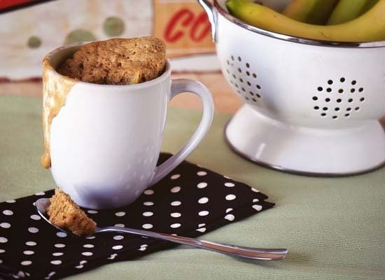 "<strong>Get the <a href=""http://passthesushi.com/banana-bread-in-a-mug"" target=""_hplink"">Banana Bread in a Mug recipe</a> by"