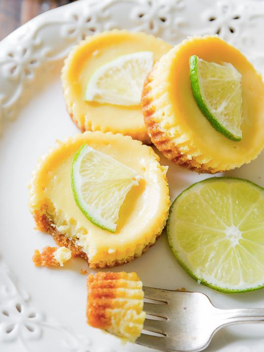 "<strong>Get the <a href=""http://sallysbakingaddiction.com/2015/06/29/key-lime-pies/"" target=""_blank"">Mini Key Lime Pies recip"