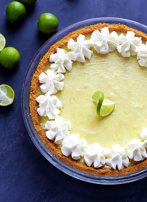 "<strong>Get the <a href=""http://www.gimmesomeoven.com/key-lime-pie/"" target=""_blank"">Classic Key Lime Pie recipe</a> from Gim"