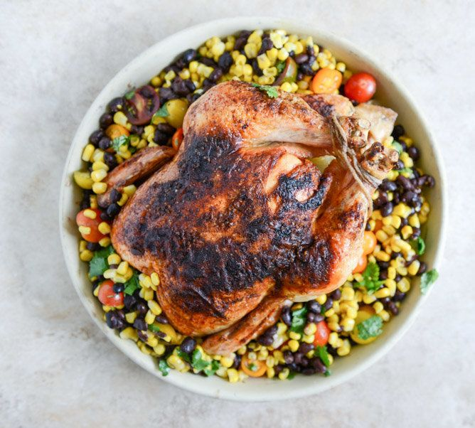 "<strong>Get the <a href=""http://www.howsweeteats.com/2013/09/chipotle-lime-butter-whole-roasted-chicken-with-the-easiest-blac"