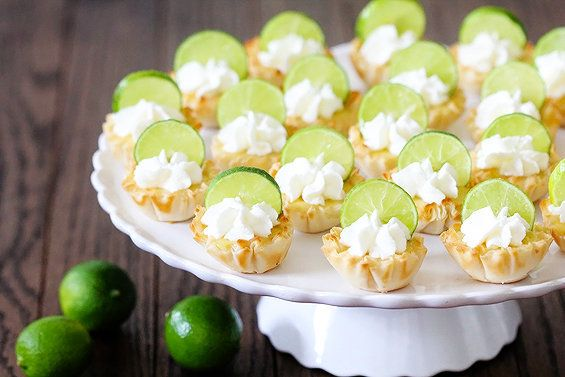"<strong>Get the <a href=""http://www.gimmesomeoven.com/key-lime-tartlets/"" target=""_blank"">Key Lime Tartlets</a> from Gimme So"