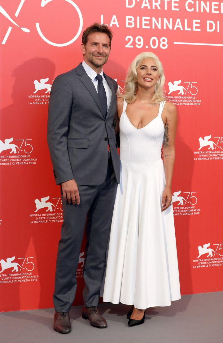 "Cooper and co-star Lady Gaga at the world premiere of ""A Star Is Born"" at the Venice Film Festival on Aug. 31. He"