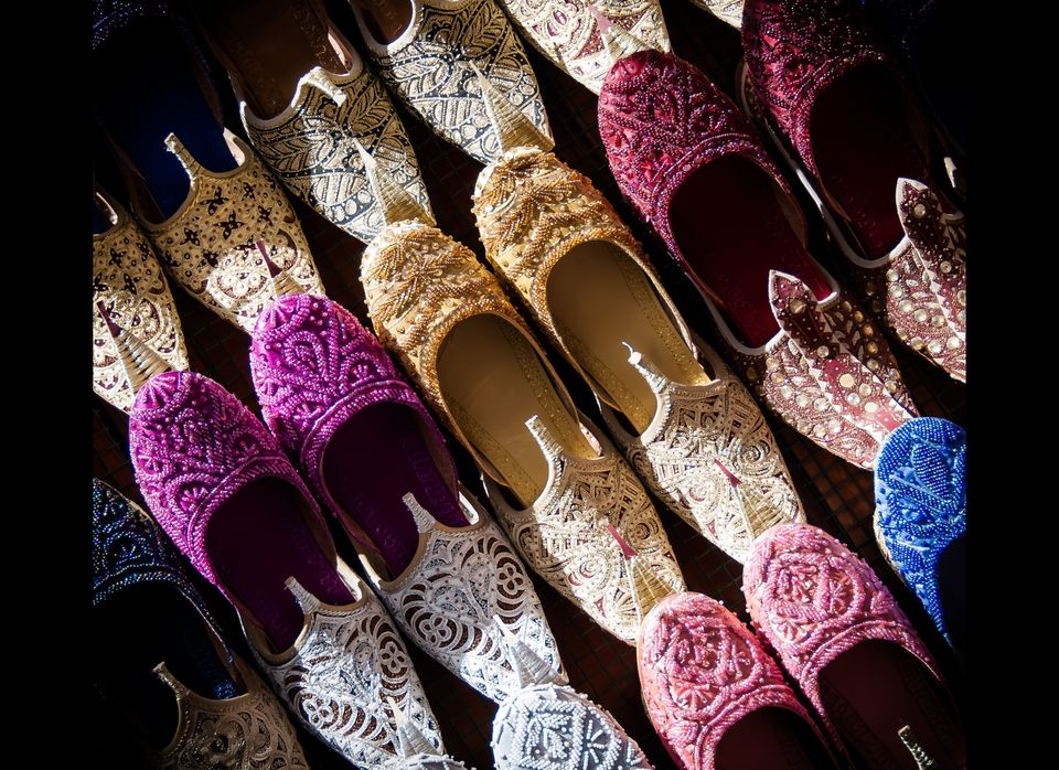 The winding, crowded and colourful Souks of Old Dubai contain many traditional treasures still traded in this Arabian crossro