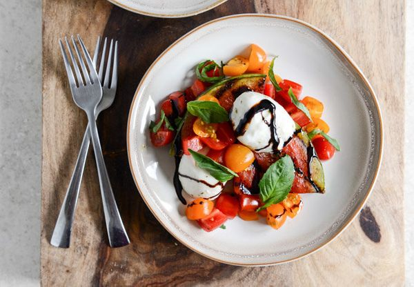 "<strong>Get the <a href=""http://www.howsweeteats.com/2013/07/honey-grilled-watermelon-caprese-salads/"" target=""_blank"">Honey-"