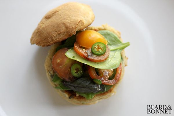 "<strong>Get the <a href=""http://food52.com/recipes/18215-savory-white-bean-burger-gluten-free"" target=""_blank"">Savory White B"