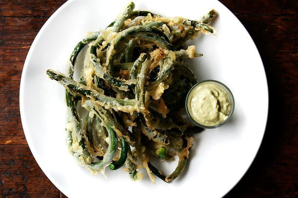 "<strong>Get the <a href=""http://food52.com/recipes/29980-tempura-garlic-scapes-with-garlic-scape-aioli"" target=""_blank"">Tempu"