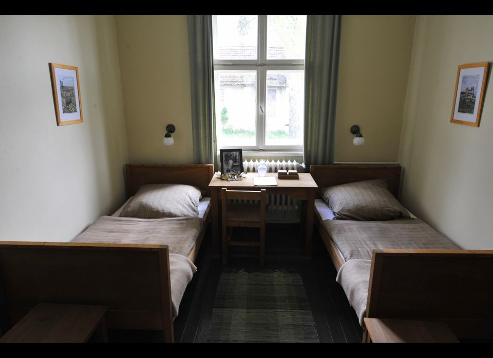 View of US athlete Jesse Owens' room in the 1936 Olympic village in Elstal, west of Berlin on May 5, 2008. The village, which