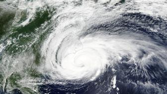 Hurricane Florence is pictured off the east coast of the United States in this September 13, 2018 satellite handout photo. Picture taken September 13, 2018. NASA/Handout via REUTERS   ATTENTION EDITORS - THIS IMAGE WAS PROVIDED BY A THIRD PARTY.