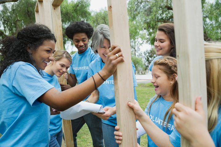 Playing a role in rebuilding their community can be therapeutic for young people and adults alike.
