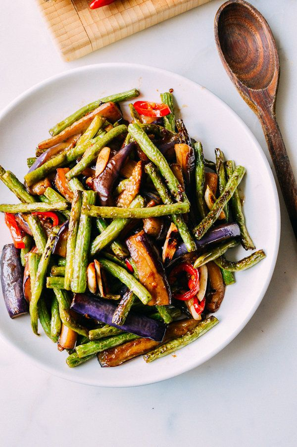 "<strong>Get the <a href=""http://thewoksoflife.com/2015/06/eggplant-string-bean-stir-fry/"" target=""_blank"">Eggplant String Bea"