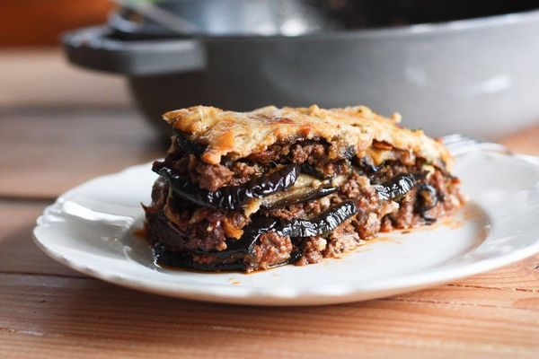 "<strong>Get the <a href=""http://www.feastingathome.com/rustic-eggplant-moussaka/"" target=""_blank"">Rustic Eggplant Moussaka re"