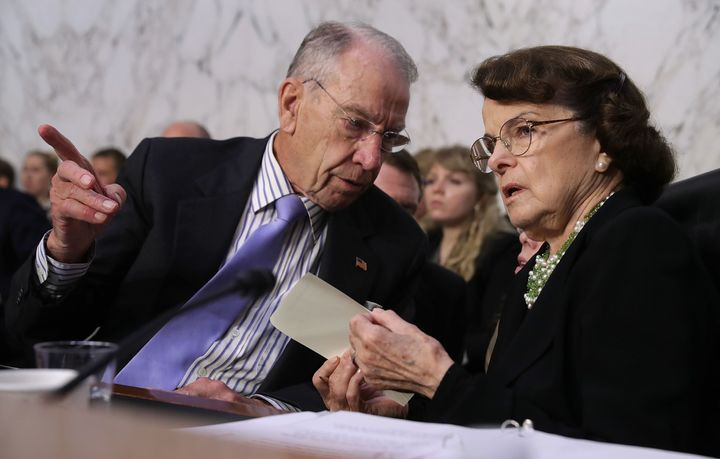 Sen. Dianne Feinstein (D-Calif.) is facing criticism for not sharing sexual misconduct allegations against Brett Kavanaugh. Sen. Charles Grassley (R-Iowa) chairs the Judiciary Committee.