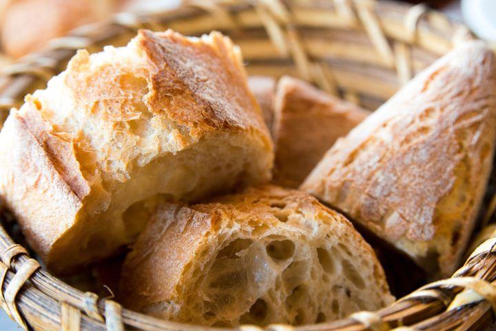 bread in basket   little roll...