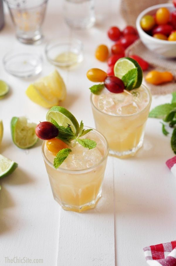"<strong>Get the <a href=""http://thechicsite.com/2014/06/19/tomato-mojito/"" target=""_blank"">Tomato Mojito recipe</a> from The"