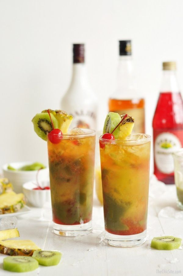 "<strong>Get the <a href=""http://thechicsite.com/2015/06/12/kiwi-mai-tai/"" target=""_blank"">Kiwi Mai Tai recipe</a> from The Ch"