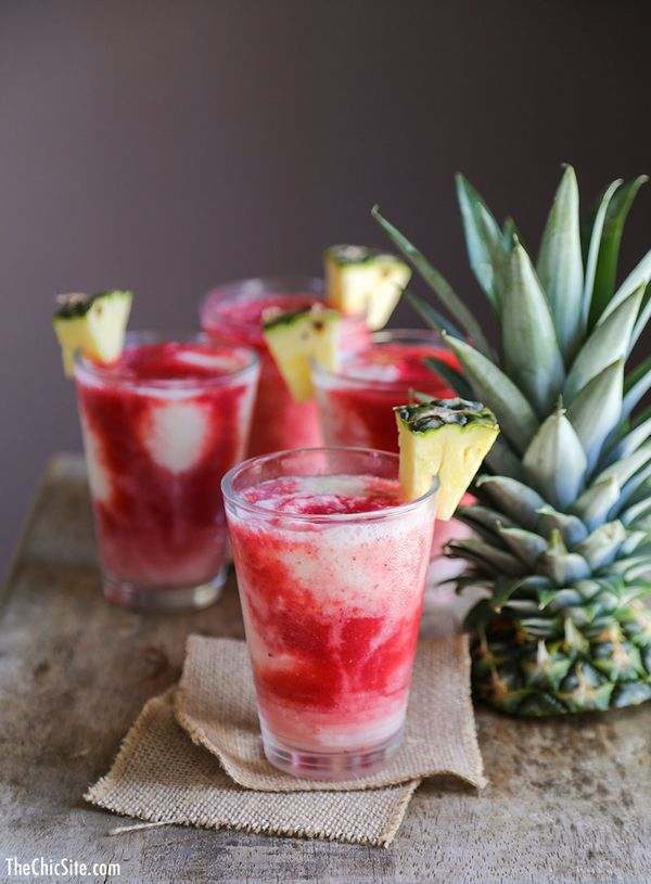 "<strong>Get the <a href=""http://thechicsite.com/2014/03/21/lava-flow-cocktail/"" target=""_blank"">Lava Flow Cocktail recipe</a>"