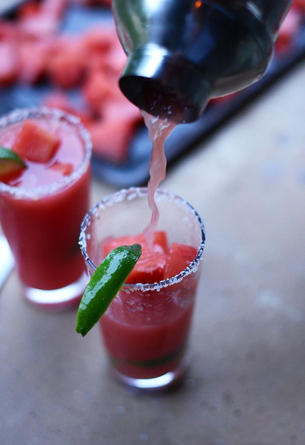 "<strong>Get the <a href=""http://minimalistbaker.com/watermelon-lime-margaritas/"" target=""_blank"">Watermelon Lime Margaritas r"