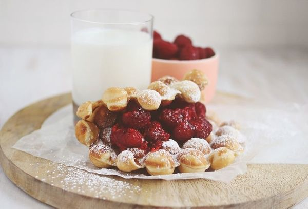"<strong>Get the <a href=""http://www.abeautifulmess.com/2014/03/peanut-butter-and-jam-bubble-waffles.html"" target=""_blank"">Pea"