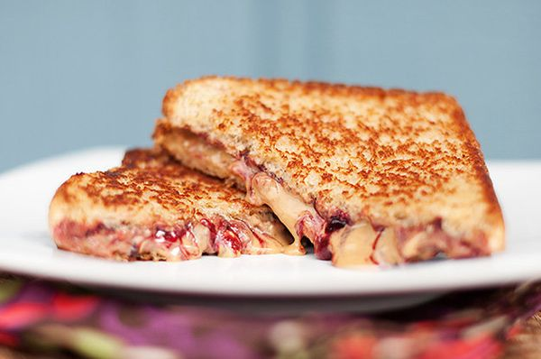 "<strong>Get the <a href=""http://www.bunsinmyoven.com/2011/03/30/grilled-peanut-butter-jelly/"" target=""_blank"">Grilled Peanut"