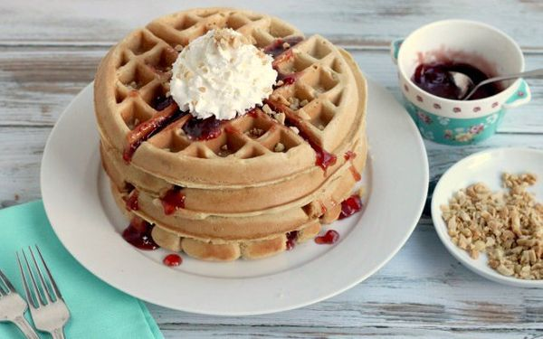 "<strong>Get the <a href=""http://www.createdby-diane.com/2013/12/peanut-butter-and-jelly-waffles.html"" target=""_blank"">Peanut"