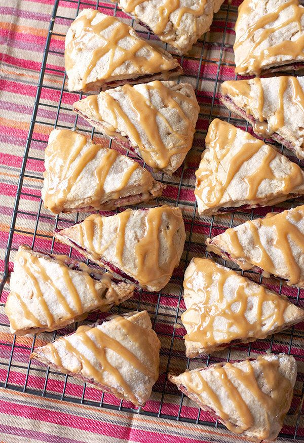 "<strong>Get the <a href=""http://www.ericasweettooth.com/2013/08/peanut-butter-and-jelly-scones.html"" target=""_blank"">Peanut B"