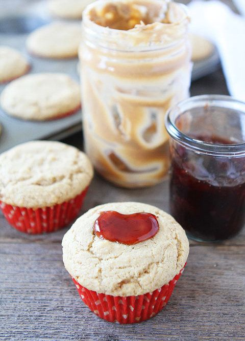 "<strong>Get the <a href=""http://www.twopeasandtheirpod.com/peanut-butter-and-jelly-muffins/"" target=""_blank"">Peanut Butter an"