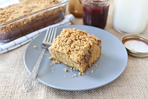 "<strong>Get the <a href=""http://www.twopeasandtheirpod.com/peanut-butter-and-jelly-coffee-cake/"" target=""_blank"">Peanut Butte"