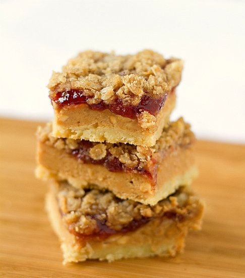 "<strong>Get the <a href=""http://www.browneyedbaker.com/2011/06/10/peanut-butter-jelly-bars-recipe/"" target=""_blank"">Peanut Bu"