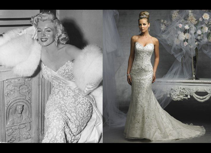 Blond Shell Inspired Wedding Gowns