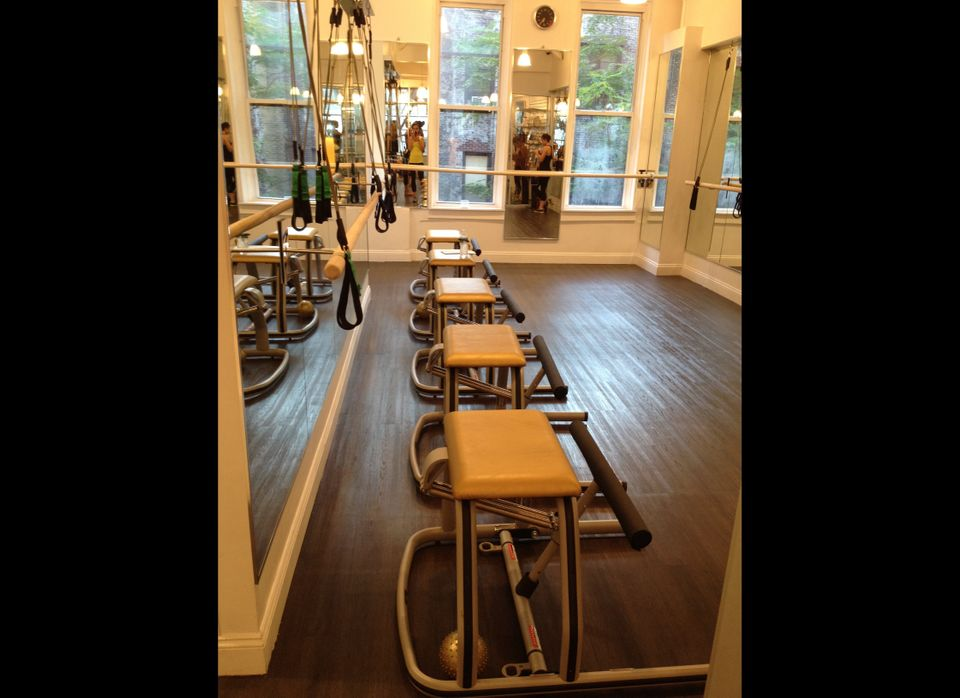 The studio. The class was small -- there were only five of us -- which means more individual attention from the instructor.