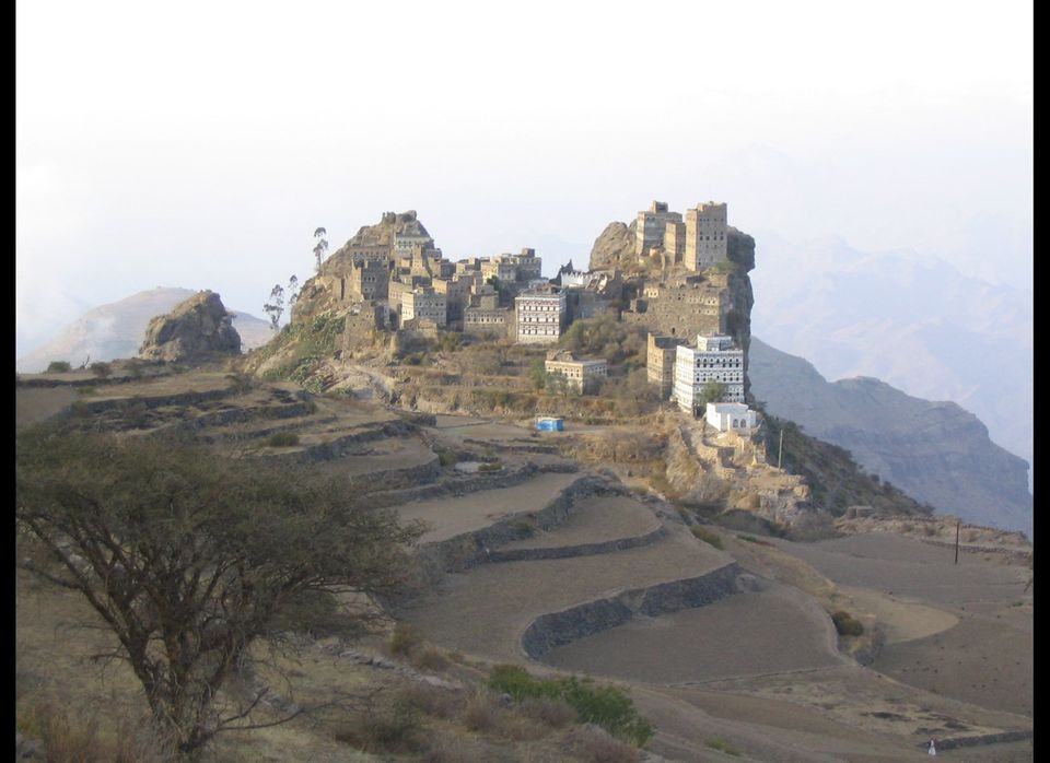 The large white building was my weekend home where I escaped the hustle and bustle of Sanaa. If Shangri La exists, it is here