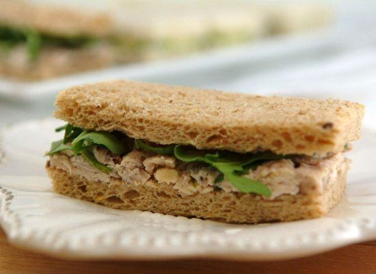 "<strong>Get the <a href=""http://whippedbaking.com/2012/07/09/tea-sandwiches-2-ways/"" target=""_hplink"">Creamy Chicken Salad Sa"