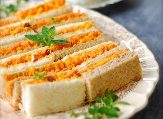 """<strong>Get the <a href=""""http://www.chindeep.com/2012/05/08/carrot-cheddar-curry-tea-sandwiches/"""" target=""""_hplink"""">Carrot Che"""