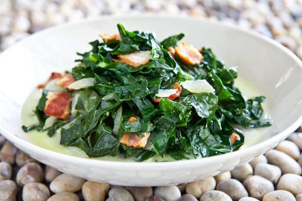 "<strong>Get the <a href=""http://www.steamykitchen.com/10061-kale-bacon-caribbean-recipe.html"" target=""_blank"">Kale and Bacon,"