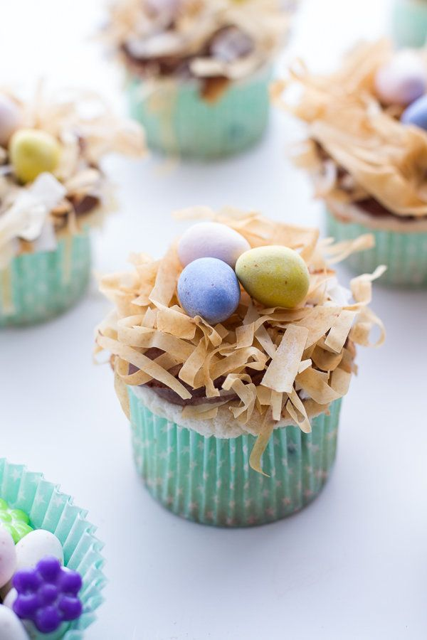 """<strong>Get the <a href=""""http://www.halfbakedharvest.com/angel-food-cupcakes-chocolate-whipped-coconut-frosting-crispy-phyllo"""