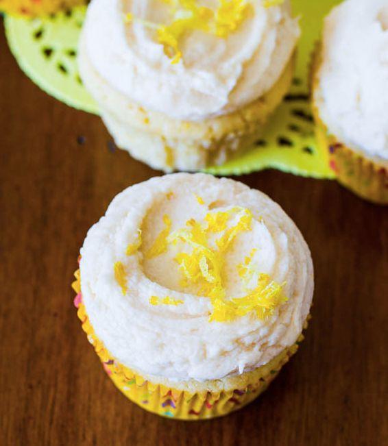 "<strong>Get the <a href=""http://sallysbakingaddiction.com/2013/04/11/homemade-lemon-cupcakes-with-vanilla-frosting/"" target="""