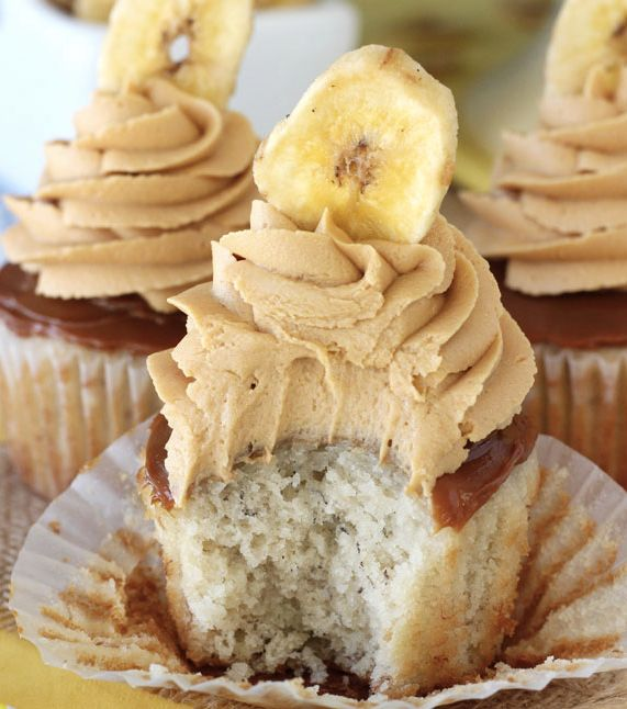 "<strong>Get the <a href=""http://www.lifeloveandsugar.com/2015/01/26/banoffee-cupcakes/"" target=""_blank"">Banoffee Cupcakes rec"