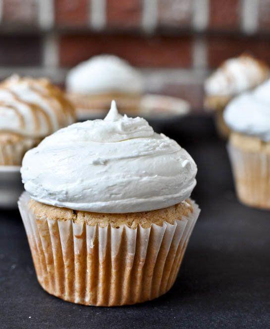 """<strong>Get the <a href=""""http://www.howsweeteats.com/2011/09/fluffernutter-cupcakes/"""" target=""""_blank"""">Peanut Butter Cupcakes"""