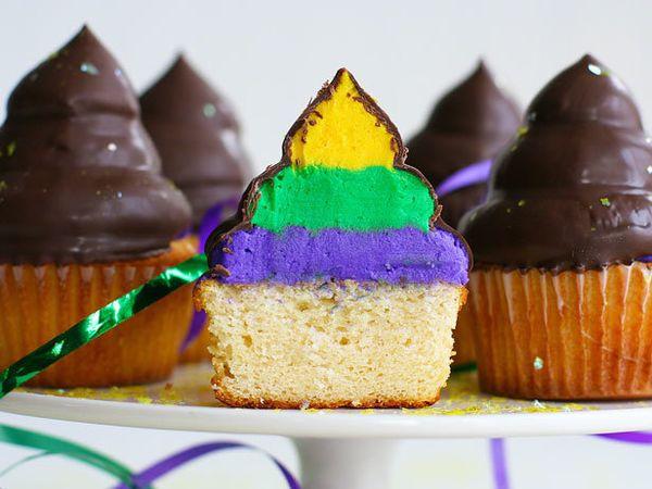 "<strong>Get the <a href=""http://iambaker.net/mardi-gras-hi-hat-cupcakes/"" target=""_blank"">Mardi Gras Hi-Hat Cupcakes recipe</"