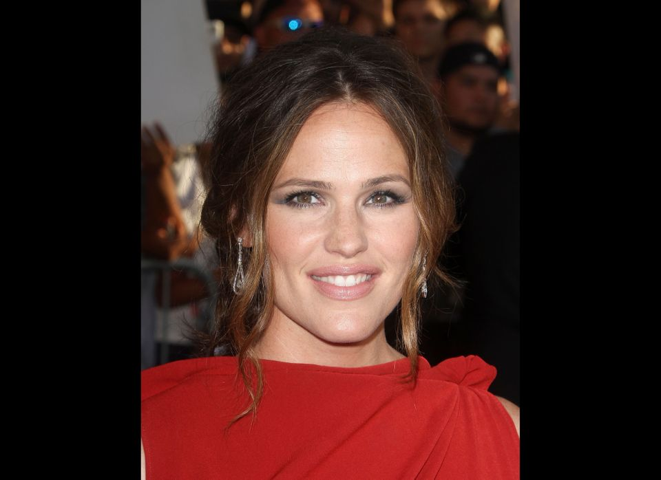 """Jennifer Garner stunned in a gorgeous red dress at the New York City premiere of """"The Odd Life Of Timothy Greene"""" on August 7"""