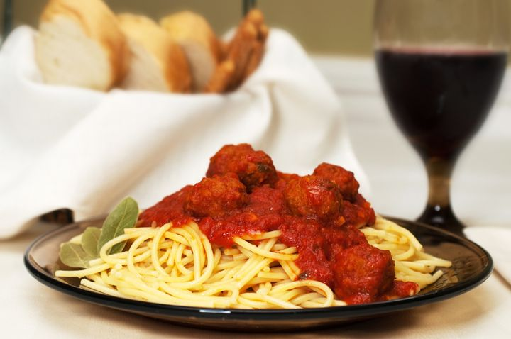 spaghetti and meatballs dinner...