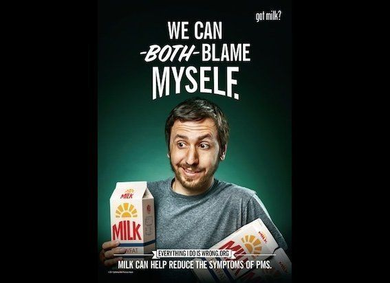 Forget having women drink milk to curb their PMS-induced mood swings -- what drink is going to stifle their outrage over the