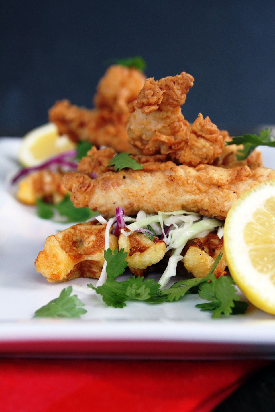 "<strong>Get the <a href=""http://www.mylifeasamrs.com/2012/08/buttermilk-fried-chicken-tenders-with-cilantro-slaw-jalapeno-che"