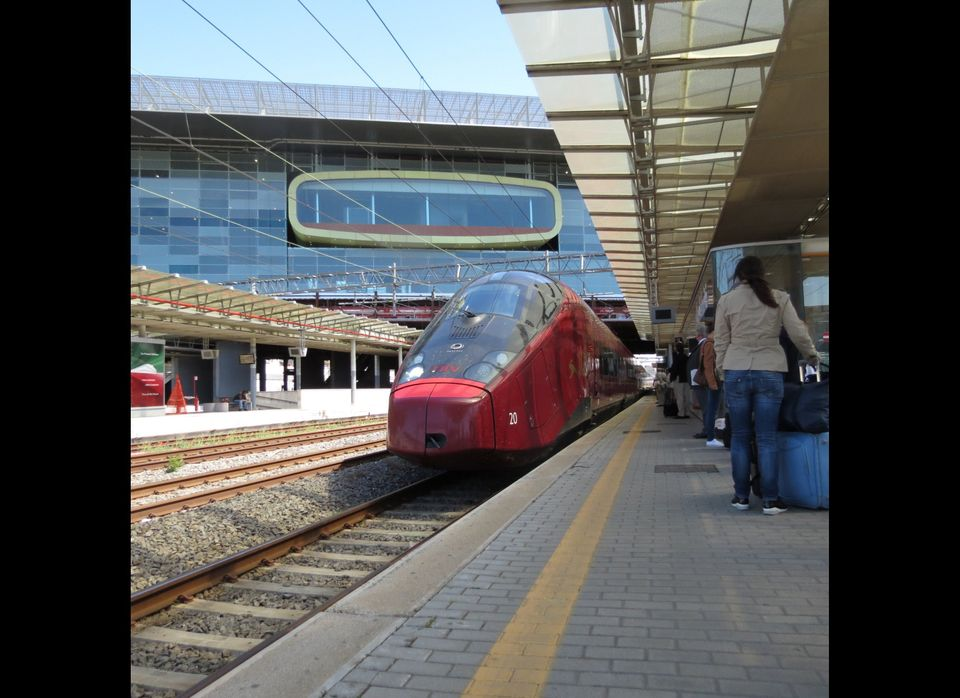 Rome's Jetson-esque Tiburtina train station is rumored to be the new rail hub in the Eternal City. Not a bad fit with the aer