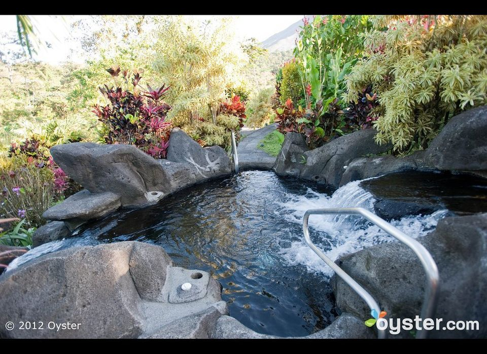 The area near the active Arenal Volcano is home to natural thermal springs, which can be enjoyed surrounded by natural vegeta