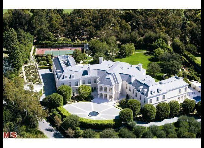 Only an aerial shot of this massive compound could do justice to the 57,000-square-foot mansion that once belonged to the lat