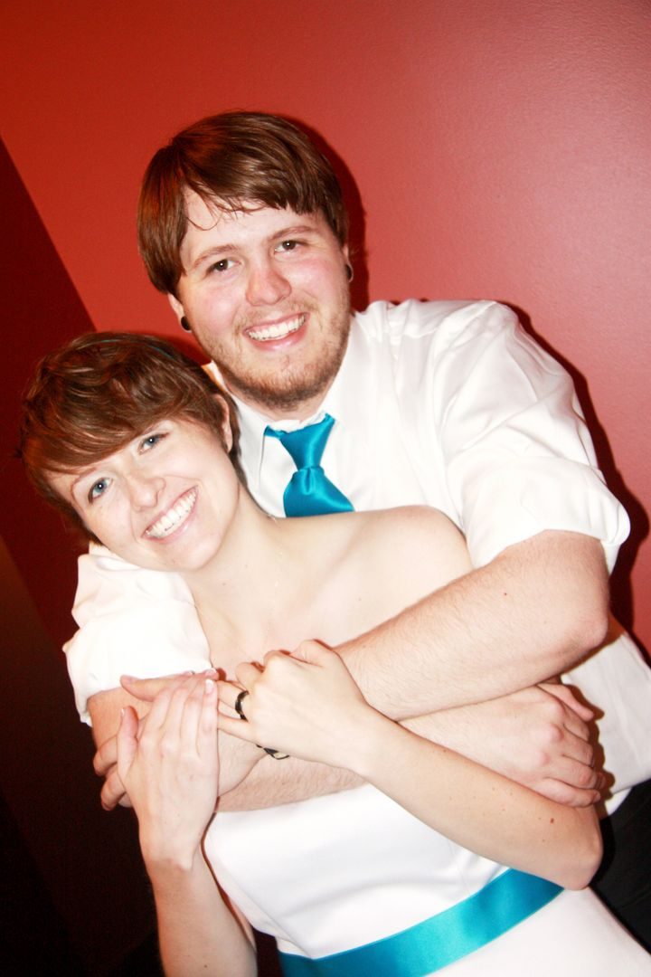 Laura and Galen on their wedding day in July 2011.