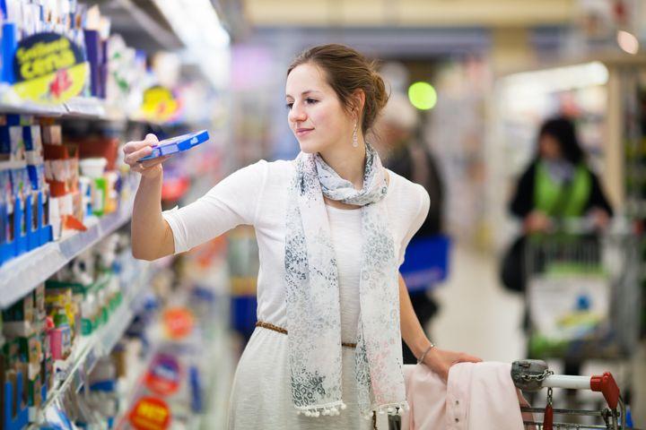 beautiful young woman shopping...