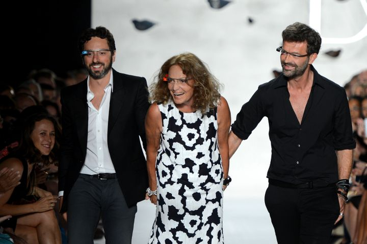 946e90ece273c Diane von Furstenberg may be 65 years old (I know, right?) but no one can  blame her for being behind the times. The special surprise at her  Spring/Summer ...
